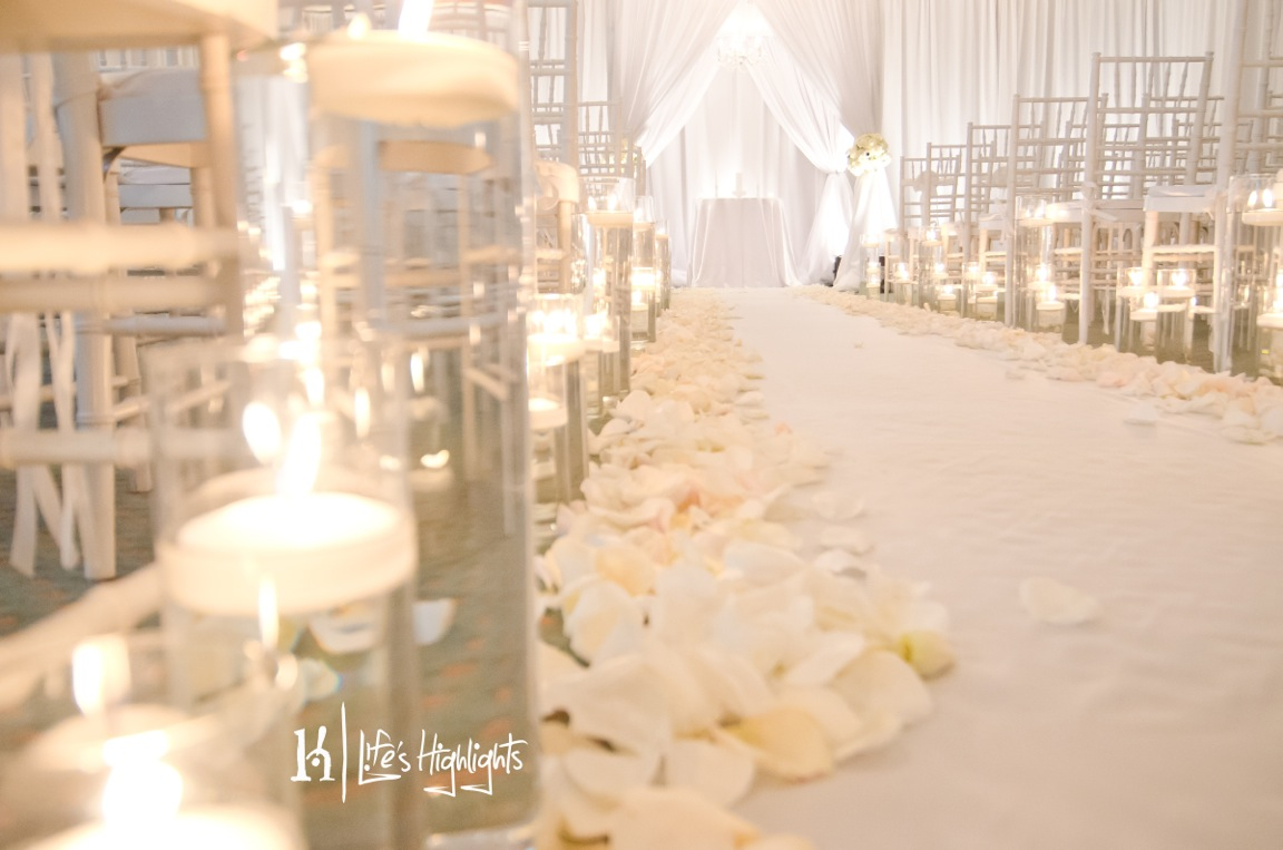blog petal aisle runner