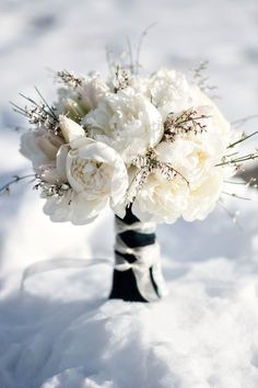 Event Design White Bridal Bouquet