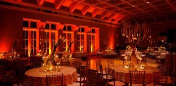 Event Design Dark Amber Lighting
