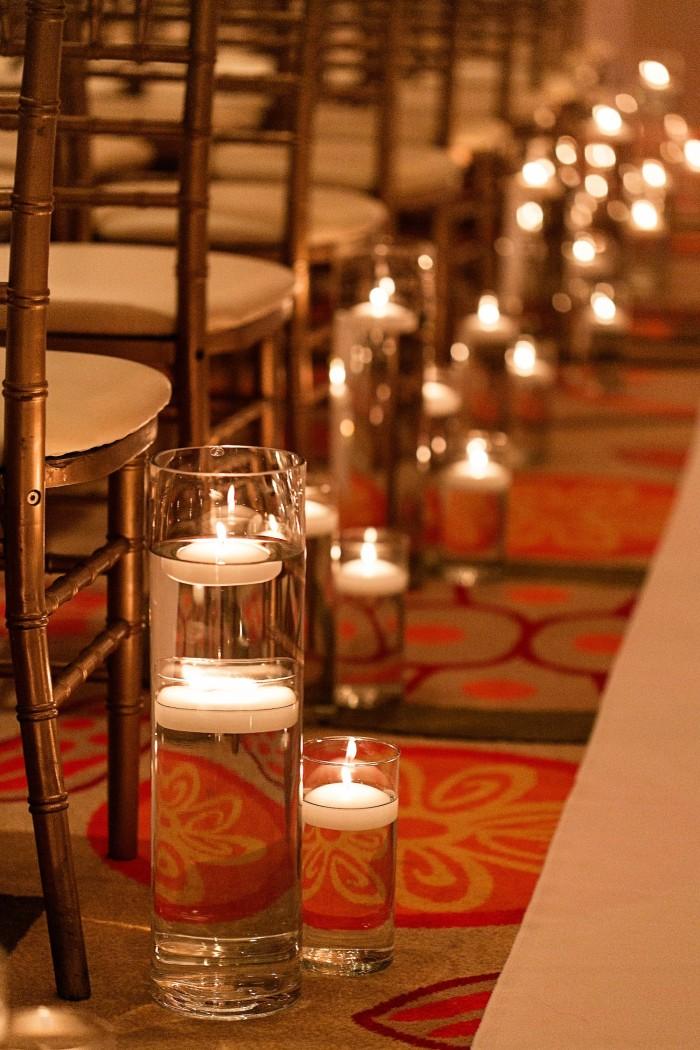 Event Design K&K Photography Sand Pearl Resort Wedding Candle Aisle Decor
