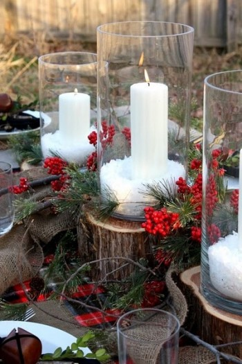 Event Design Trio Vases with Pillar Candle