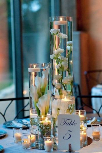 Event Design Trio Vases with Floating Candle