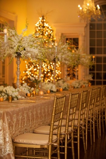 Event Design Amber Lighting and Lace overlay