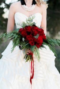 Event Design Red Rose Bridal Bouquet