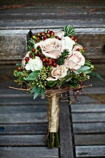 Event Design Holiday Bridal Bouquet
