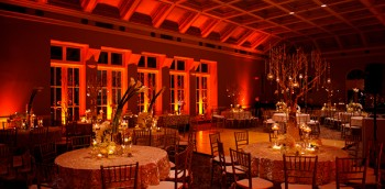 Event Design Dark Amber Lighting